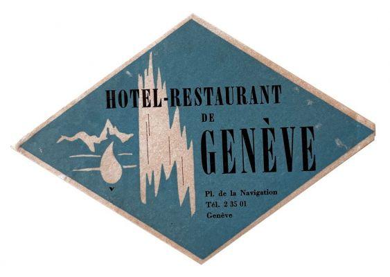 Etiquette Hotel-Restaurant de Genève