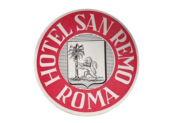 Etiquette Hotel San Remo Roma
