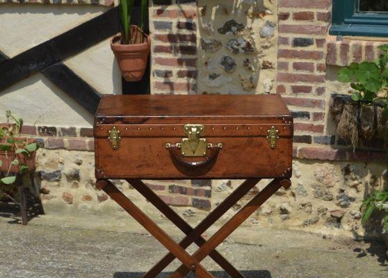 Valise Louis Vuitton en cuir