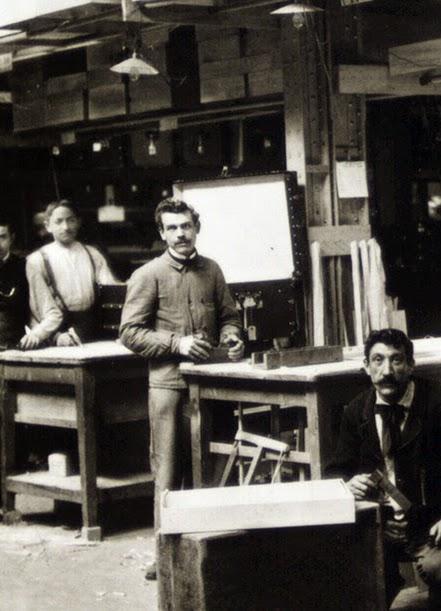 Visite de l'usine Louis Vuitton en 1904